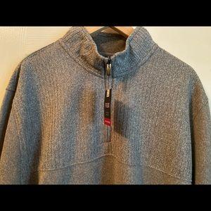 Van Heusen Flex fleece quarter zip pullover